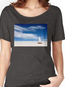 A boat on the beach Women's Relaxed Fit T-Shirt