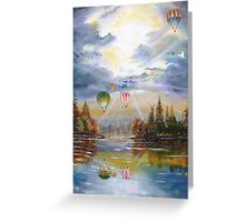 Hot air balloons. Greeting Card