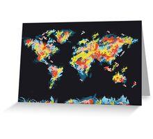 world map brush strokes 3 Greeting Card