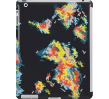 world map brush strokes 3 iPad Case/Skin