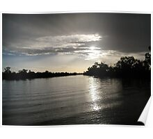 Sunset at Longreach Poster