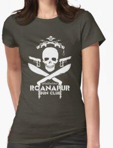 Black Lagoon ROANAPUR GUN CLUB Womens Fitted T-Shirt