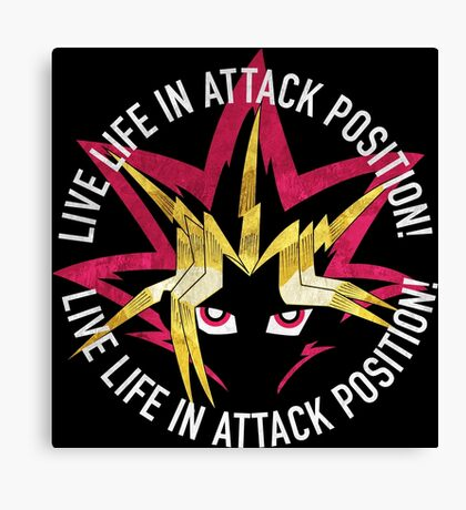 Yugi - Live life in attack position! Canvas Print