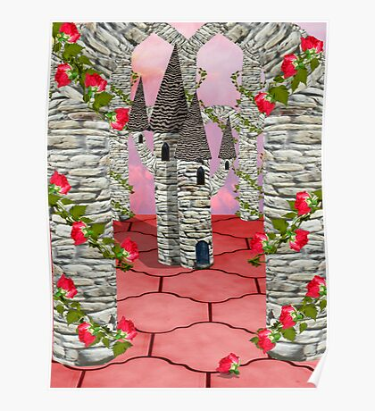Toy towers and Roses Poster