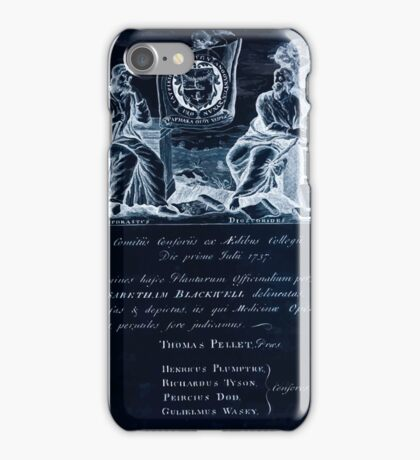 A curious herbal Elisabeth Blackwell John Norse Samuel Harding 1737 0010 Authors Inverted iPhone Case/Skin