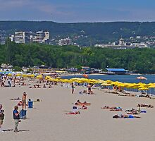 On the Beach, Varna, Bulgaria by Margaret  Hyde