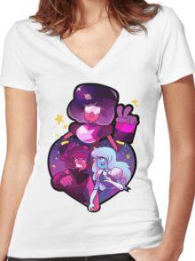 Garnet Women's Fitted V-Neck T-Shirt