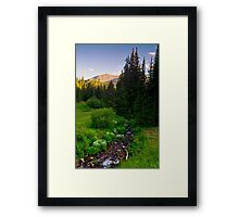 Creek Of The Evening Light Framed Print