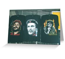 Three Faces of Che. Greeting Card
