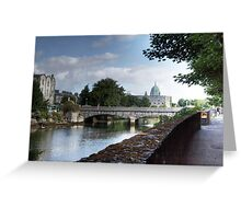 The Canal - Galway, County Galway, Ireland Greeting Card