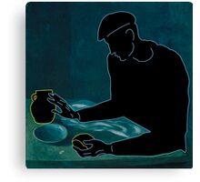 The Blindman's Modern Meal Canvas Print