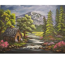 Cabin By the Stream Photographic Print