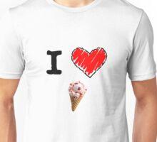 I Love Ice Cream Unisex T-Shirt