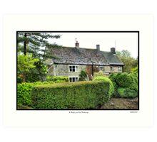 Cottage St.Bololph Green Elton Art Print