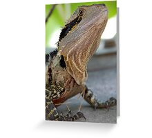 Lizard Portrait Greeting Card