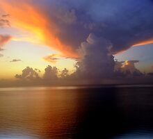 miami weather - ominous clouds  by John Carey