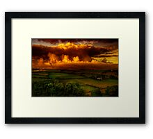 Evening In Polperro Framed Print