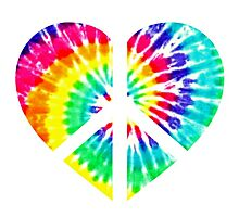 Tie Dye Peace Heart  Photographic Print