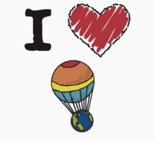 I Love Hot Air Balloon by Lorie Warren