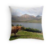 Highland Cow, Skye Throw Pillow