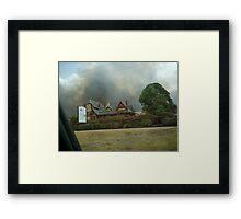 bendigo fires Framed Print