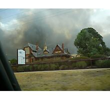bendigo fires Photographic Print