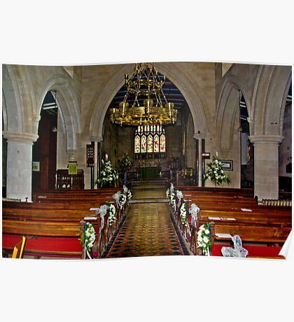 Slingsby Church Interior Poster