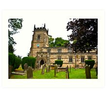 Slingsby Church  Art Print