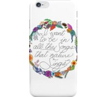 Nature Sings iPhone Case/Skin