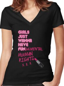 Fundamental Women's Fitted V-Neck T-Shirt