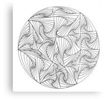 Circular Paradox Metal Print