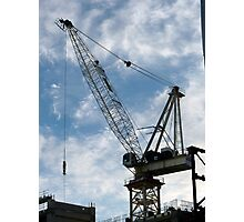 Crane and Sky Photographic Print