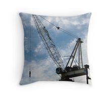 Crane and Sky Throw Pillow