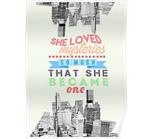 SHE LOVED MYSTERIES SO MUCH | PAPER TOWNS Poster