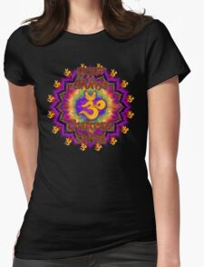 Divine Chakras Shine Womens Fitted T-Shirt
