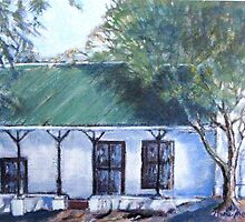 Old semi-detached house in Piketberg by Marie Theron