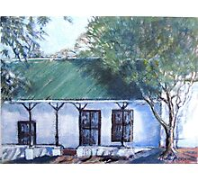 Old semi-detached house in Piketberg Photographic Print