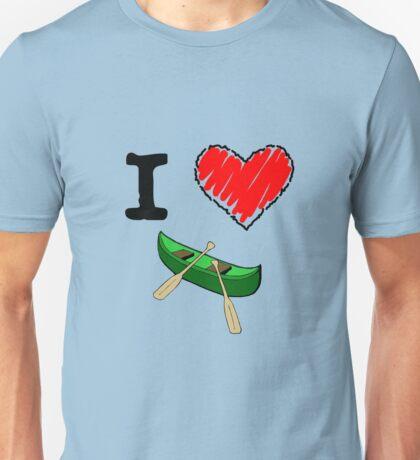 I Love to Canoe Unisex T-Shirt