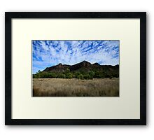 Virgin Rock And Mount Zamia Framed Print