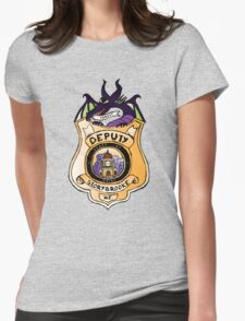 Once Upon A Deputy Womens Fitted T-Shirt