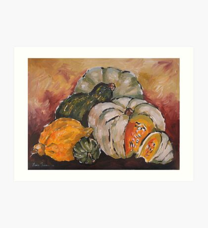 Pumpkin Still Life Art Print