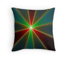 A beautiful, colorful fractal art Throw Pillow