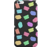 Colorful Brush Strokes - Blue Green Pink Purple iPhone Case/Skin