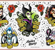 Villains Flash Sheet by Cheyne Gallarde