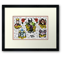 Disney Villains Flash Sheet Framed Print