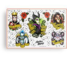 Villains Flash Sheet Metal Print