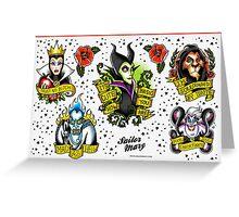 Disney Villains Flash Sheet Greeting Card