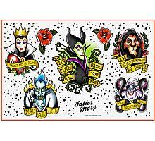 Disney Villains Flash Sheet Photographic Print
