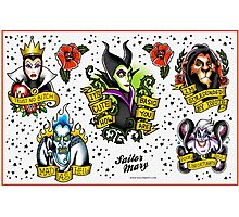 Villains Flash Sheet Photographic Print