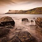 Misty sea cliffs over Talisker bay by Shaun Whiteman